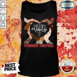 Hands Stronger Together Nurse Life Tank Top
