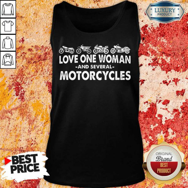 Love One Woman And Several Motorcycles Tank Top