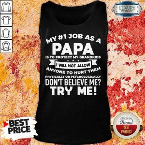My No 1 Job As A Papa Tank Top