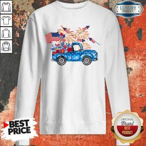Pickup Truck 4th Of July American Flag Sweatshirt